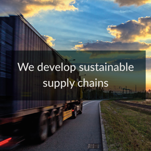 we develop sustainable supply chains