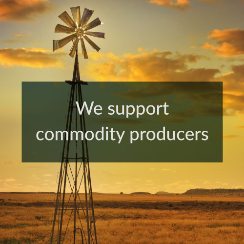 we support commodity producers